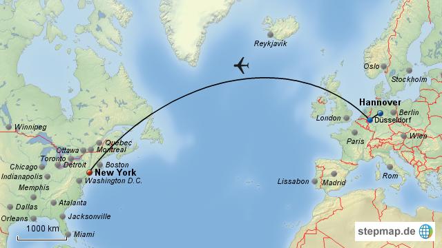 0002flug New York Von Mrcarnalho Landkarte Für Deutschland