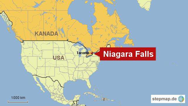 02 Trockenlegung Niagara Fälle Von Fotoredaktion Landkarte Für Nordamerika