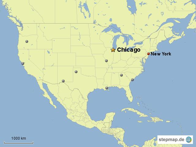chicago karte Chicago Landkarte | Deutschland Karte