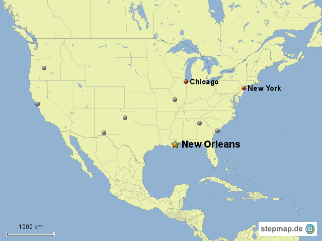 new orleans karte Usa Karte New Orleans   creactie