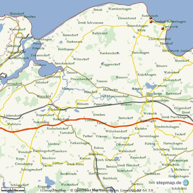 Priwall Karte.Stepmap 1 Etappe Landkarte Fur Welt