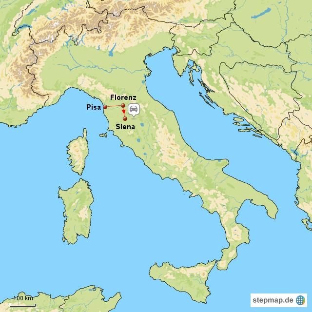 siena italien karte StepMap   1. Italienreise Florenz   Siena   Landkarte für Italien siena italien karte