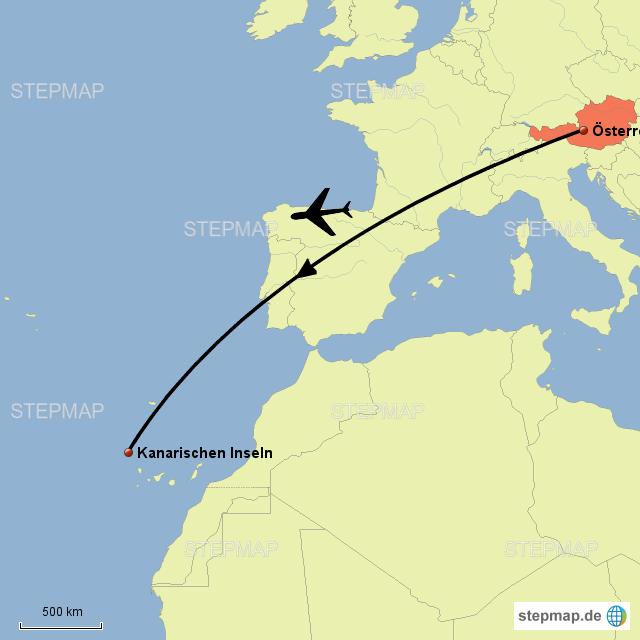 Kanaren Inseln Karte.Stepmap 1 Karte Kanarischen Inseln Landkarte Fur Osterreich