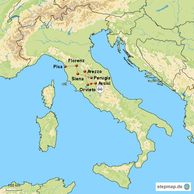 landkarte italien assisi kleve landkarte. Black Bedroom Furniture Sets. Home Design Ideas