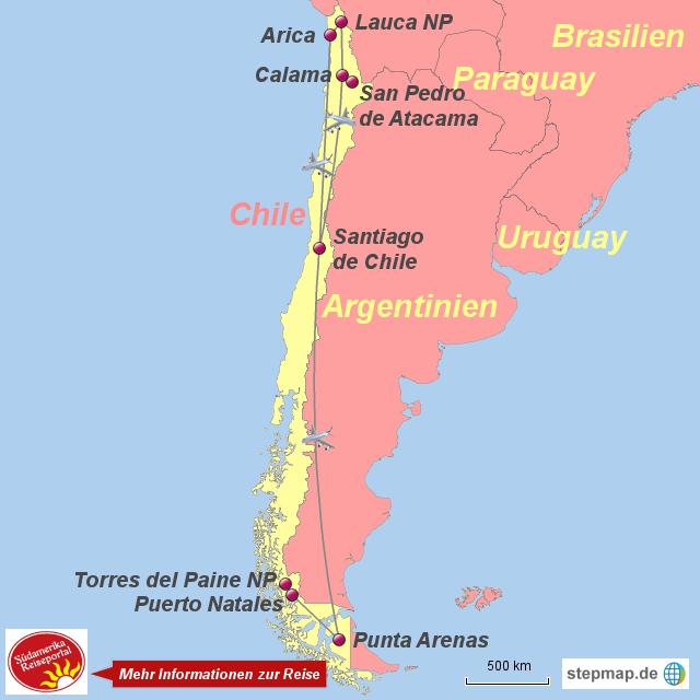 Chile Patagonien Karte.Stepmap 1050833 Chile Atacama Anden Und Patagonien