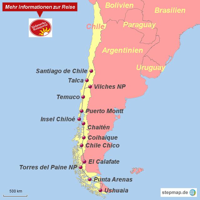 Chile Patagonien Karte.Stepmap 10905 Land Des Windes Patagonien Landkarte
