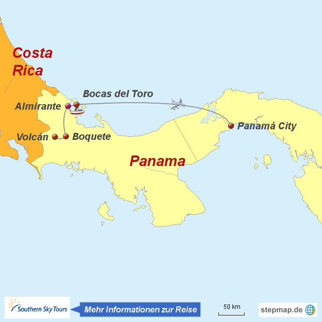 Costa Rica Karte Sehenswurdigkeiten.Stepmap 1120643 Panamas Sehenswurdigkeiten Landkarte