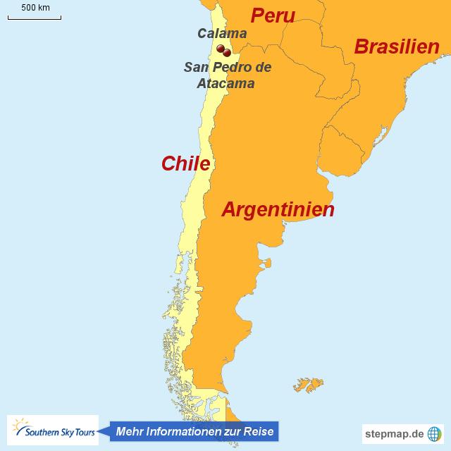 Atacama Wüste Karte.Stepmap 1120660 Die Atacamawüste Rund Um San Pedro Landkarte