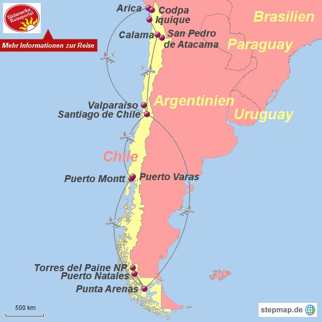 Atacama Wüste Karte.Stepmap 1210555 Chile Total Atacama Wüste Seengebiet Und