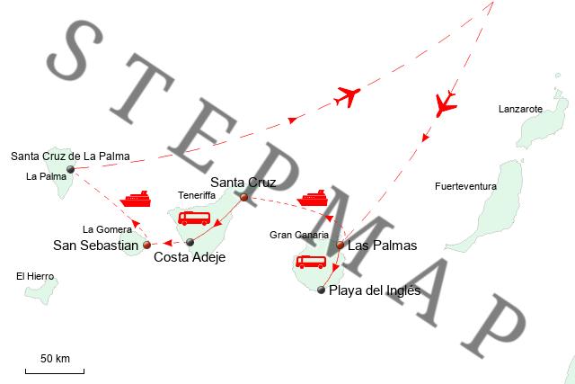 Entfernung Gran Canaria Teneriffa