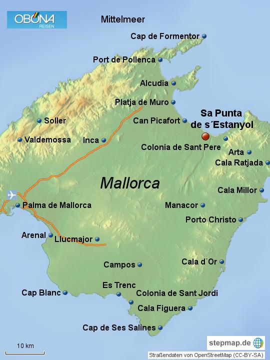 Stepmap 2fkk Urlaub Auf Mallorca Sa Punta De Sestanyol