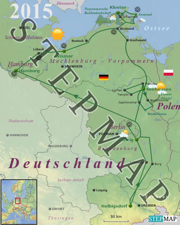 Spree Karte.Stepmap 2015 An Elbe Spree Und Ostsee Landkarte Fur