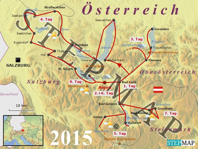 Salzkammergut Karte.Stepmap 2015 Im Salzkammergut Landkarte Fur Osterreich