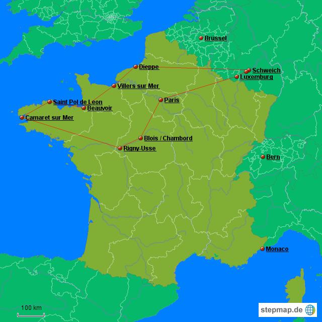Nordfrankreich Karte.Stepmap 2016 Nord Frankreich Urlaub Landkarte Für Frankreich