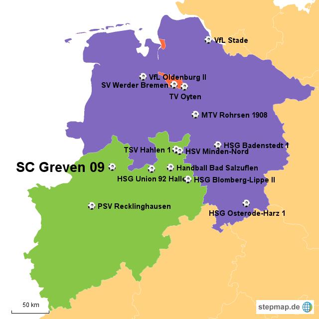 3 Liga Nord Frauen Von Dkaltmeier Landkarte Für Deutschland