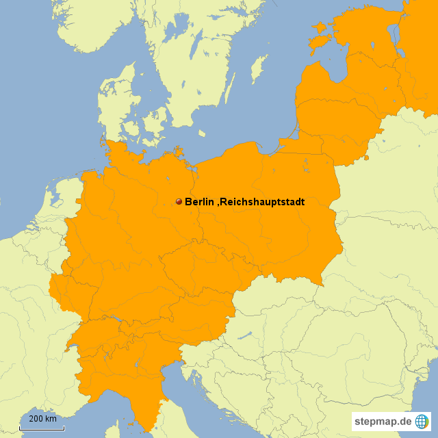 Deutsches Reich Karte.Stepmap 4 Deutsches Reich Landkarte Für Deutschland