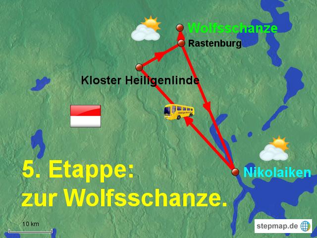 Wolfsschanze Karte.Stepmap 5 Etappe Wolfsschanze Landkarte Fur Polen