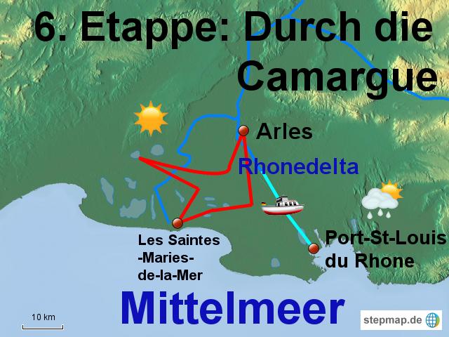 Camargue Karte.Stepmap 6 Etappe Durch Die Camargue Landkarte Für Frankreich