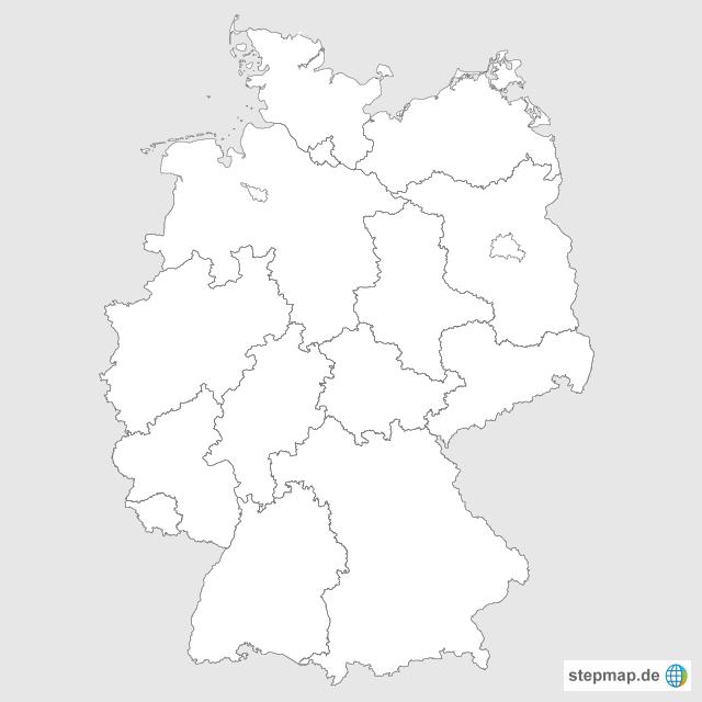 bundesländer karte leer Bundesländer Deutschland Karte Leer | goudenelftal bundesländer karte leer