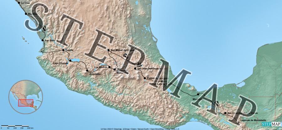 Landkarte: 8 Monat