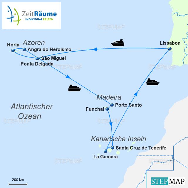 Kanaren Inseln Karte.Stepmap 931 Azoren Madeira Und Kanarische Inseln Die