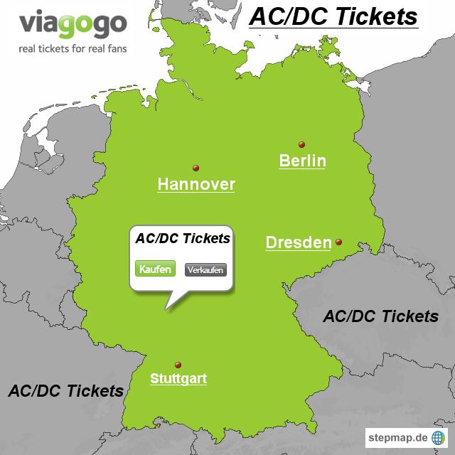 Stepmap Acdc Tickets Landkarte Für Deutschland