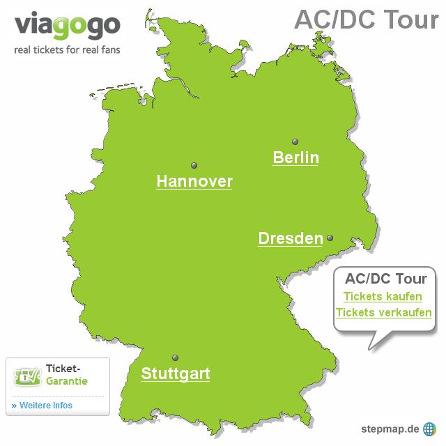 Stepmap Acdc Tour Landkarte Für Deutschland