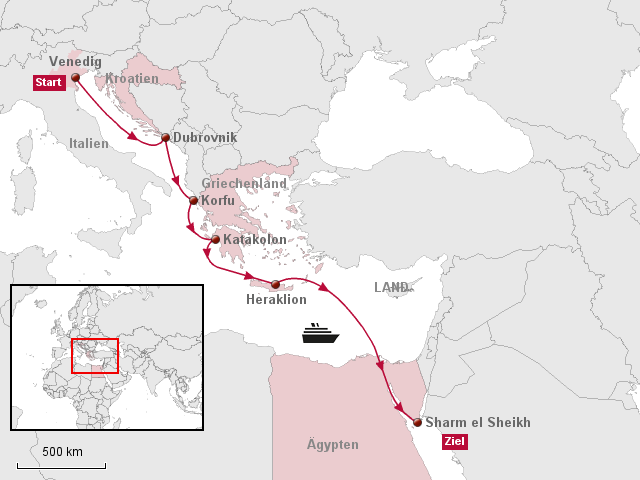 Karte ägypten Sharm El Sheikh.Stepmap Aidaaura Mittelmeer Ab Venedig An Sharm El Sheikh