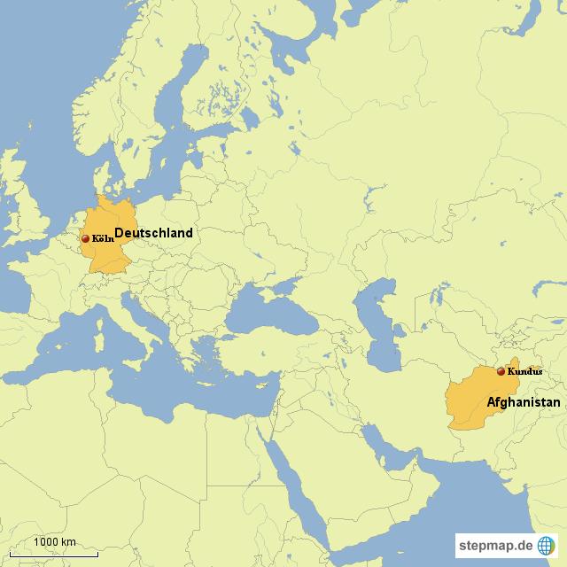 landkarte afghanistan StepMap   Afghanistan   Deutschland   Landkarte für Deutschland landkarte afghanistan