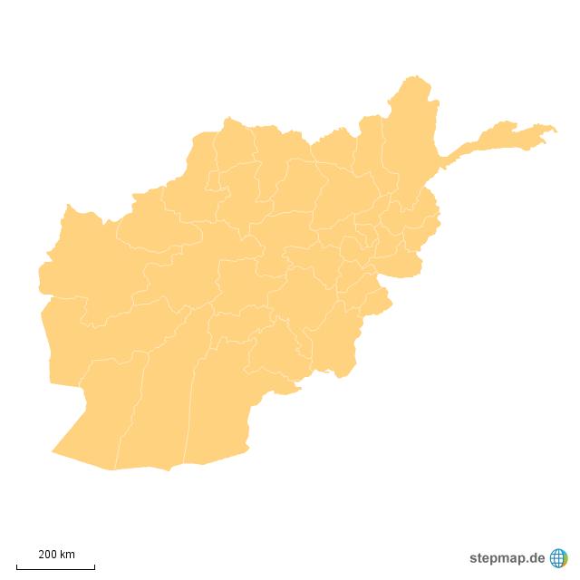 Karte Afghanistan Provinzen.Stepmap Afghanistan Provinzen Landkarte Fur Asien