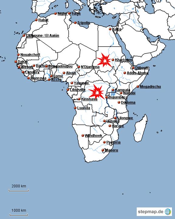 Karte Afrika Kolonien.Stepmap Afrika Kolonien Landkarte Fur Afrika