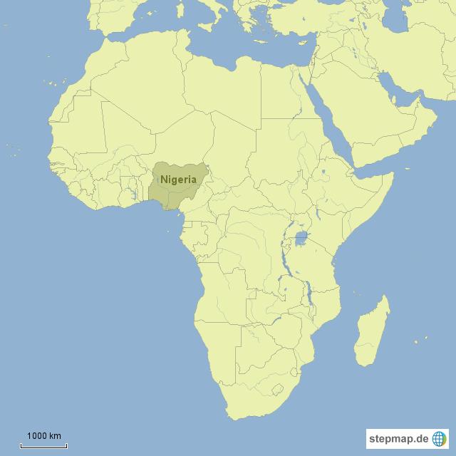 nigeria karte StepMap   Afrika   Nigeria   Landkarte für Nigeria