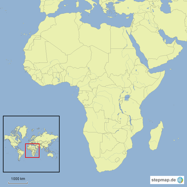 Afrika Karte Leer