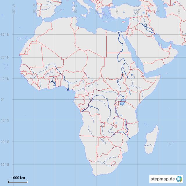 Stumme Karte Afrika.Stepmap Afrika Stumme Karte Länder Landkarte Für Afrika