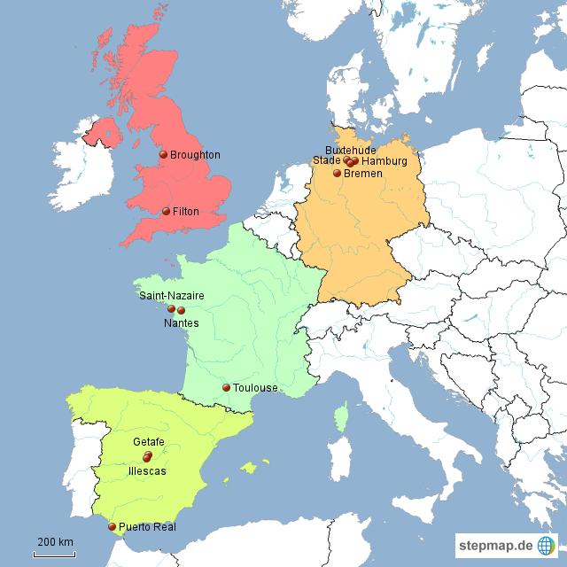 Airbus Standorte
