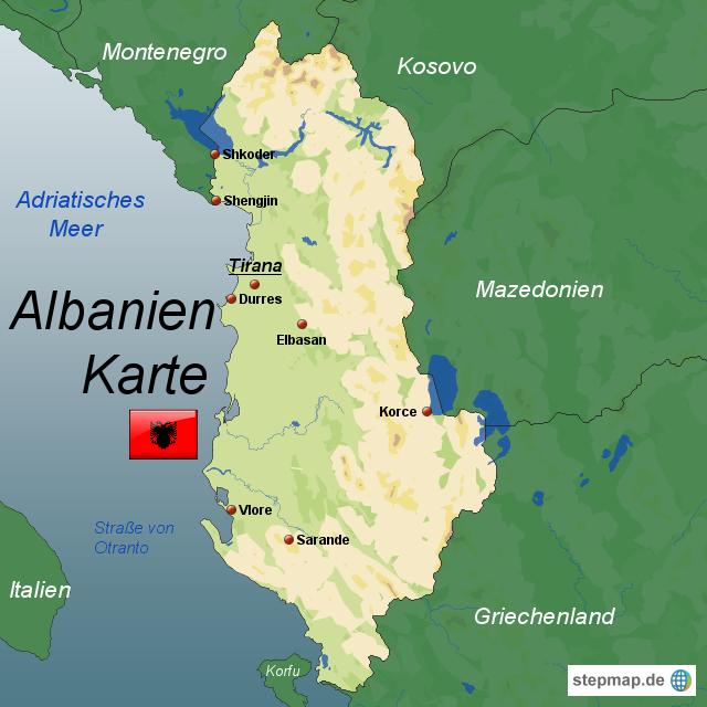 karte albanien StepMap   Albanien Karte   Landkarte für Albanien