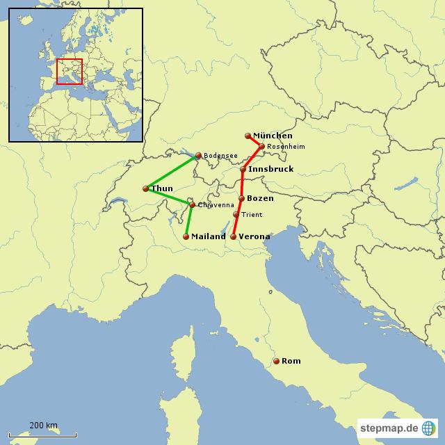 Alpenpässe Karte.Stepmap Alpenpässe Nach Italien Landkarte Für Europa