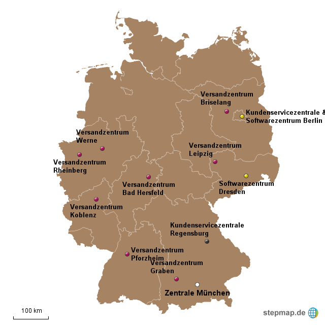 Karte amazon standorte