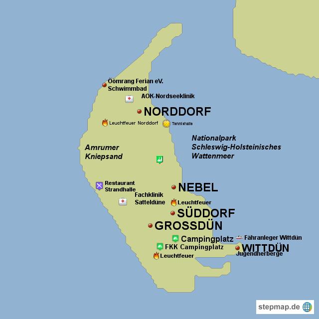 amrum karte StepMap   Amrum   Landkarte für Deutschland amrum karte