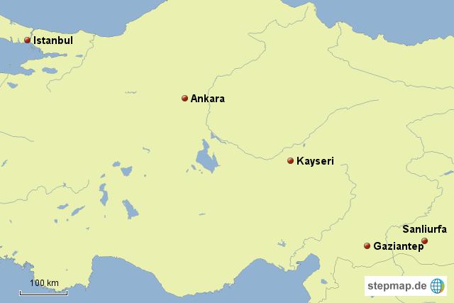 anatolien karte StepMap   Anatolien   Landkarte für Türkei