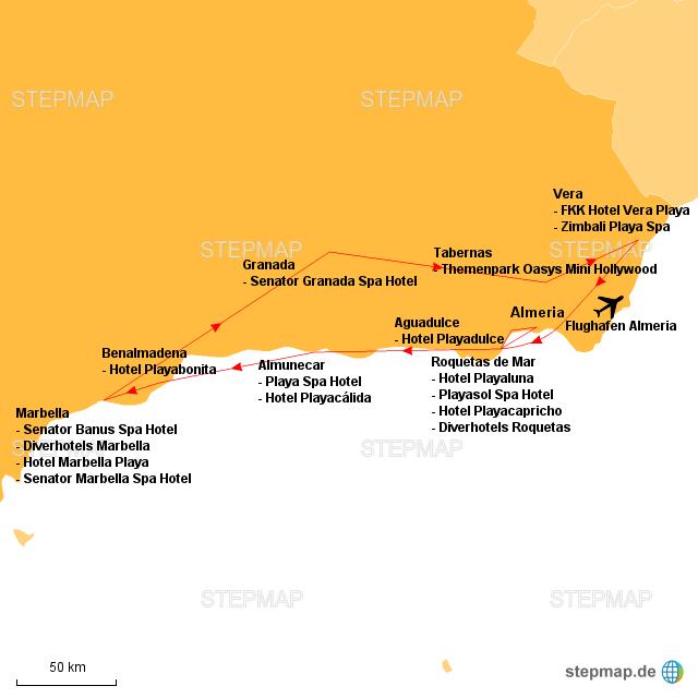 Andalusien Karte Flughäfen.Stepmap Andalusien Landkarte Für Deutschland
