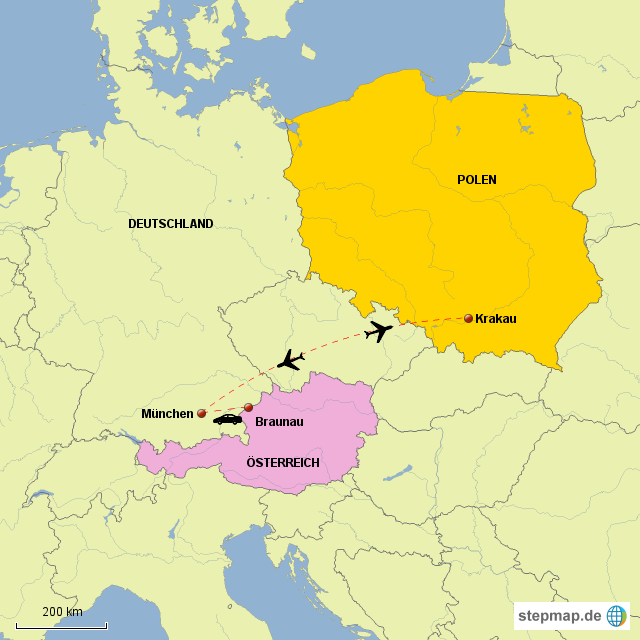 krakau karte StepMap   Anreisekarte Krakau   Landkarte für Polen