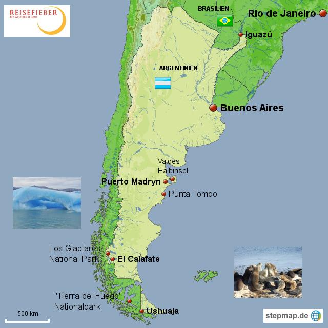 argentinien landkarte StepMap   Argentinien   Karte Messe   Landkarte für Argentinien argentinien landkarte