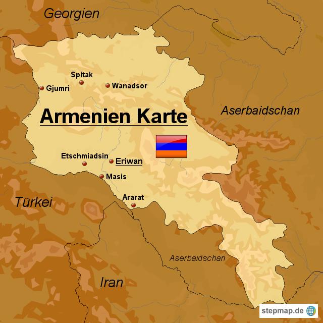 Stepmap Armenien Karte Landkarte Fur Armenien