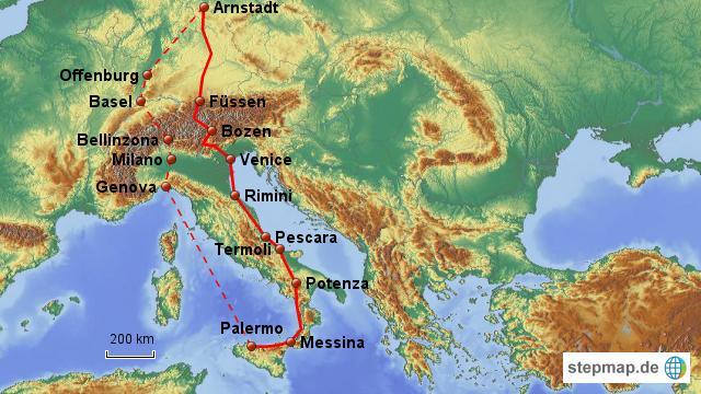 Rückreise Italien