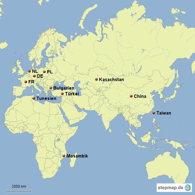 Karte Europa Asien.Stepmap Asien Afrika Und Europa Landkarte Fur Deutschland