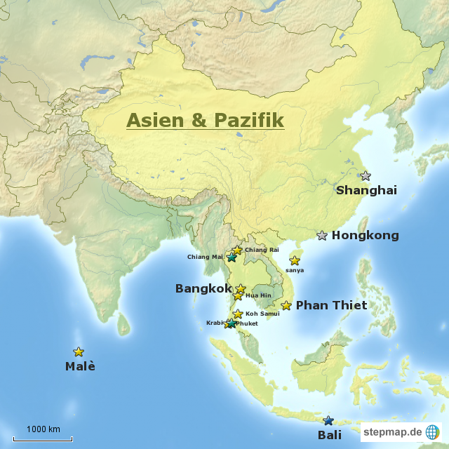 pazifik karte StepMap   Asien & Pazifik Karte