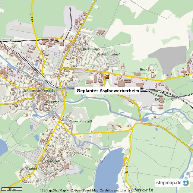 Güstrow Karte.Stepmap Asylbewerberheim In Güstrow Geplant Landkarte Für Welt