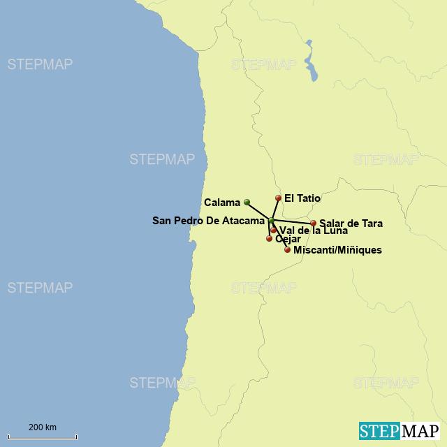 Atacama Wüste Karte.Stepmap Atacama Wüste Landkarte Für Chile