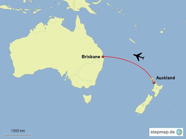 StepMap - Auckland - Brisbane